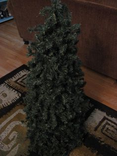 Fake-It Frugal Holidays: Fake Pre-Lit Christmas Topiaries