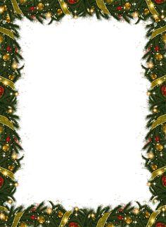 Christmas Holiday Frame With Garland