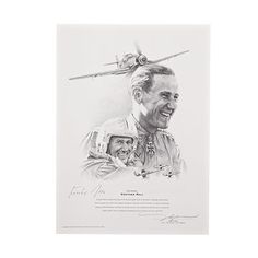 Gunther Rall Signed Print -Sportys Wright Brothers Collection