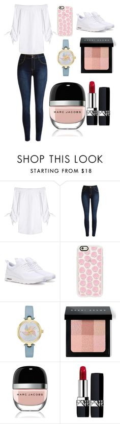 """""""Sans titre #2607"""" by merveille67120 ❤ liked on Polyvore featuring Steffen Schraut, NIKE, Casetify, Kate Spade, Bobbi Brown Cosmetics, Marc Jacobs and Christian Dior"""