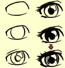 anime+step+by+step+drawing+eyes   manga eyes step 10 now let s try to draw the eye step by step start