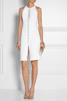 Roberto Cavalli|Eyelet-embellished crepe dress |NET-A-PORTER.COM