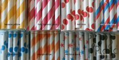 QTY 50 Paper Straws in Bag  Up to 10 Colors  Free by InTheClear, $8.70