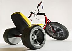 Relive all the childhood thrills of drifting through the neighborhood as a grown-up with the adult sized big wheel tricycle has arrived. This over-sized trike...