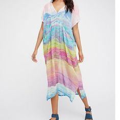 7e0f21e2ad92 Free People Dresses & Skirts - Colors of the Land Kaftan Sheer Watercolors
