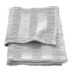 IKEA VÄGMÅLLA Throw Light grey 120x160 cm