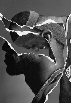 Tim + Tim LeBron James, Nike Basketball Collage, 2010, with and for Hort