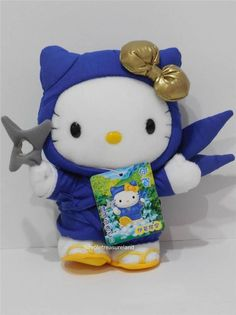Sanrio Regional Limited Blue Ninja Hello Kitty Plush