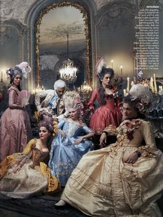 """Kirsten Dunst in """"Teen Queen: The Style of Marie Antoinette"""" by Anne Leibovitz for Vogue US September 2006"""
