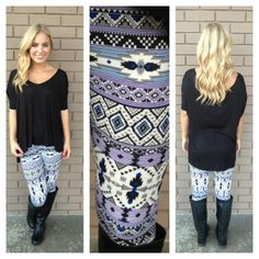 Purple & Royal Tribal Print Leggings from Dainty Hooligan. Shop more products from Dainty Hooligan on Wanelo. Tribal Print Leggings, Tribal Prints, Leggings Fashion, Aztec, Winter Outfits, Cute Outfits, Purple, My Style, Womens Fashion