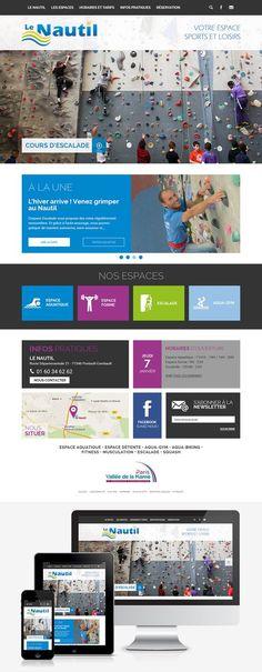 e1c8e3a1230 Création du site Internet pour l espace sports et loisirs Le Nautil (77)     Web  Webdesign  Responsive   le-nautil.fr by  creasit
