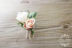 Rustic Boutonniere, Pinecone Boutonniere, Pink Rose Boutonniere, Rustic Buttonhole, Twine and Burlap Wedding, Groomsmen Flowers, Groom