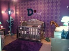 Divya's Nursery Featuring Bratt Decor Chelsea collection in antique silver