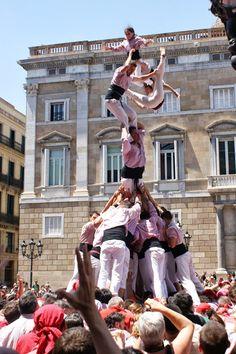 Pilar de 7 carregat dels Minyons de Terrassa a Barcelona. Foto de Malinalli Garcia