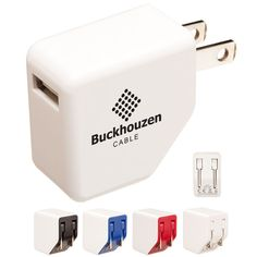 Promotional Travel Right USB A/C Adapter