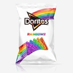 Rainbows and unicorns! food and drinks Crazy New Doritos + Unicorn Gin = Your New Favorite WTF Food Combo Doritos Rainbow, Rainbow Food, Rainbow Things, Rainbow Stuff, Unicorn Tears Gin, Cute Food, Yummy Food, Kreative Desserts, Unicorn Foods