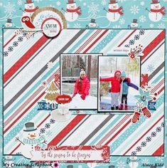 Tis the Season to be Freezin' - #echo Park - A Perfect Winter Collection. My Creative Scrapbook January 2018 creative kit #scrapbooking101