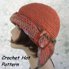 Womens Crochet HAT PATTERN Versatile Flapper Girl 3 Ways To Wear PDF Easy To Make- Resell finished