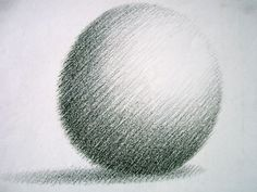 Age 12 ~ Drawing ~ Black & White ~ Sphere ~ Wax Crayon