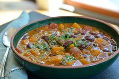 Butternut Squash and Kidney Bean Chili