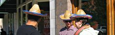 Urban Sombreros - Jon Lander - copyright 2013 - Mass St., Lawrence, KS - one reason I don't take a lot of people pictures is that it's a little bit of an invasion of privacy, but I wanted people to see the hats