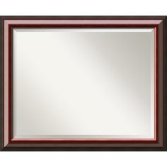 Wall Mirror Large, Cambridge Mahogany Wood: Outer Size 32 x 26' -- Haven't you heard that you can find more discounts at this image link : Decor Mirrors