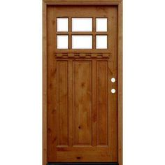 Craftsman Rustic 6 Lite Stained Knotty Alder Wood Prehung Front Door w/ 6 in.  sc 1 st  Pinterest : allegheny doors - Pezcame.Com