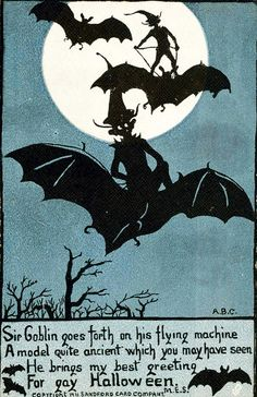 Halloween postcard c. 1911 I *LOVE* Gay Halloween. I do, indeed, have great fun at their bashes.