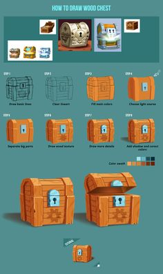 Game Design Tutorial: Wood Chest on Behance