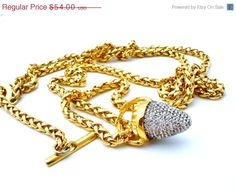 BIG SALE Clear Crystal Chain Belt Gold by TheJewelryLadysStore, $43.20