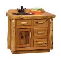 Fireside Lodge Furniture Furniture Cedar 3-ft Freestanding #Vanity  #bathroomfurniture #rusticfurniture #rustic    http://www.santaferanch.com/