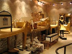 a picture of some of the artifacts found in King Tut's tomb