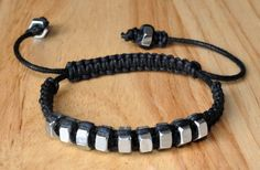 String & Hexnut Bracelet waxed cording