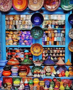 """Beautiful pottery! So colorful """