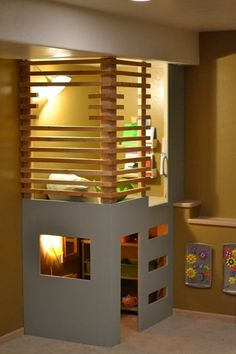 indoor fort - I love this! Maybe add a slippery dip?