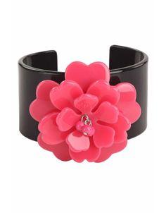 An edgy flower cuff