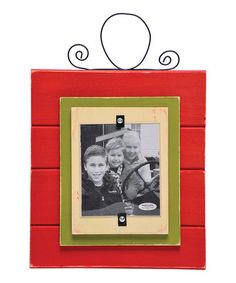Take a look at this Red Holiday Picture Frame by Home Sweet Home: Rustic Décor on #zulily today!