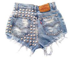 Omen Eye Store - Electra Short, $88.00 (http://www.omeneye.com/electra-short/)  omeneye, cut off shorts, vintage denim shorts, studded cut off shorts, cutoff shorts, shredded shorts, studded shorts, denim shorts, omen eye, destroyed high waisted shorts, jean cutoff shorts, high waisted studded denim shorts, vintage studded shorts, black cutoff shorts, high waisted studded shorts, high waisted shorts, studded short, vintage levi jean shorts