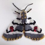 Max Alexander's knitted moths are incredible – I am simply blown away. LOVE! I also like the irony of using wool to knit moths – normally that combination strikes fear into the heart of every knitter/crocheter I know!