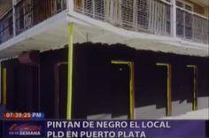 Pintan De Negro Local PLD En Puerto Plata #Video