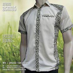 Seragam Batik, Batik Seragam Kantor, Batik Kombinasi Polos, Baju Semi Batik, Batik Warna KREM, https://instagram.com/batik_kombinasi, WA : 08222 128 3456