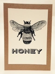 Honey - Handmade Gift Card £2.50