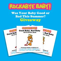 "It's sad waving goodbye to summer but we know it'll be back again before too long. Let's reflect on all the fun we had this summer with your little ones. . . We want to hear the good and the bad.   Head to the Rockabye Blog to share your ""Good"" and ""Bad"" baby stories for the chance to win a copy of Good Baby, Bad Baby! http://rocka.by/Blog4RB"