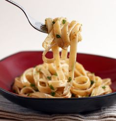 Pasta with Anchovy Sauce - I love it in Caesar salad, why not pasta?