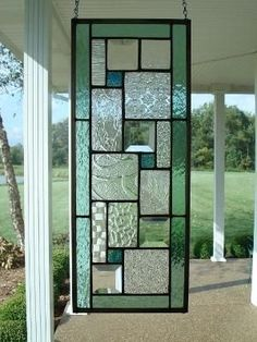 Stained Glass Panel Seafoam Green Window Transom by TheGlassShire. Leuk idee voor glas in lood, als raam of als raamhanger Stained Glass Door, Stained Glass Designs, Stained Glass Panels, Stained Glass Projects, Stained Glass Patterns, Leaded Glass, Mosaic Glass, Custom Stained Glass, Mosaic Mirrors