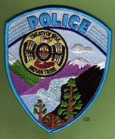 HOH TRIBAL POLICE PATCH WASHINGTON STATE