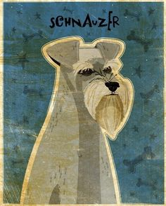 Schnauzer. This image is part of the Fido Series, a series of dog breeds by digital artist John W. Golden.