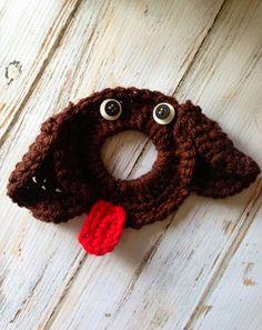 Crochet Puppy camera/lens buddy