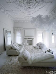 An all-white room inside Melbournes Red Court mansion!