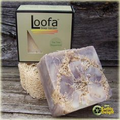 WANT! Peppermint/ tea tree oil/ loofah soap